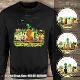 [BLACK] Personalized custom dog & cat St Patrick's Day sweatshirt - 2422