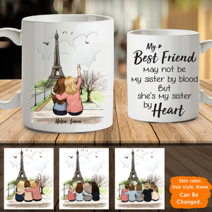 Personalized custom female best friend bestie sister birthday gift ideas coffee mug Eiffel - 2321