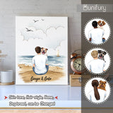 Personalized canvas print wall art gifts for dog lovers - Dog Dad - Beach