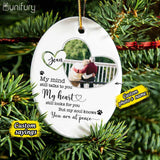 Personalized Memorial Christmas Ceramic Ornaments for lost loved one (PRINTED ON BOTH SIDES) - Custom photo & sayings