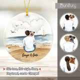Personalized ceramic ornament gifts for dog lovers - Dog Dad - Beach