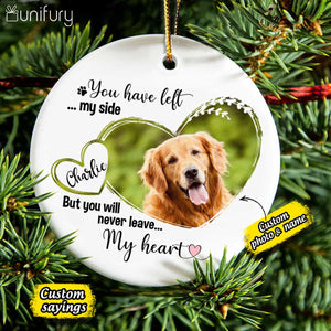 Personalized Dog Cat Memorial Christmas Ceramic Ornaments (PRINTED ON BOTH SIDES) - Custom photo & sayings