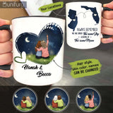 Personalized Best Friends Long Distance Relationship Accent Mug Gifts - Night Sky