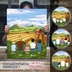 Personalized gifts for the whole family Canvas Print Wall Art - UP TO 5 PEOPLE - Farming - 2426
