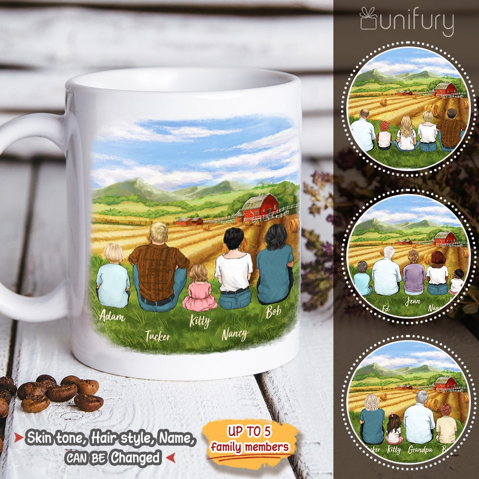Personalized gifts for the whole family Coffee Mug - UP TO 5 PEOPLE - Farming - 2426