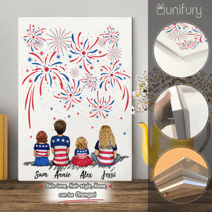 Personalized family members metal print 4th Of July gift for the whole family - UP TO 5 PEOPLE - 2426