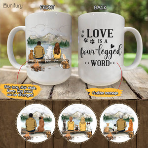 Personalized dog mug gifts for dog lovers - DOG & COUPLE - CUSTOM MESSAGE - Mountain - Hiking - 2415