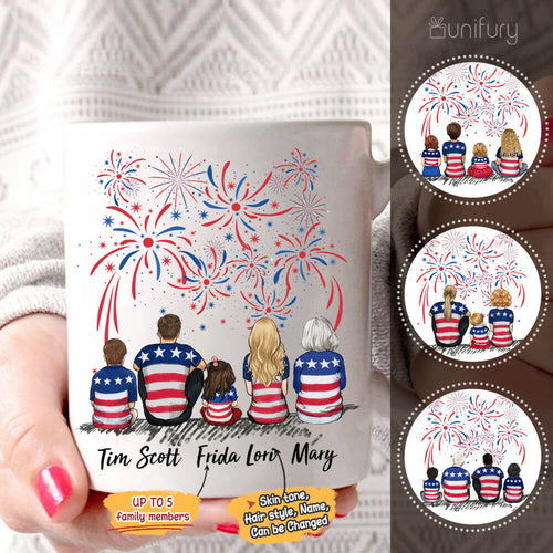 Personalized family members coffee mug 4th Of July gift for the whole family - UP TO 5 PEOPLE - 2426