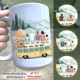 Personalized gifts for the whole family Coffee Mug - UP TO 5 PEOPLE - Camping  - 2426