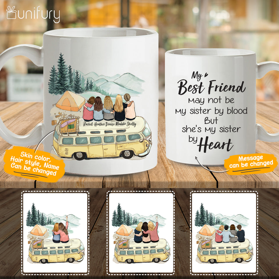 Personalized best friend birthday gifts Coffee Mug - Camping - 2272