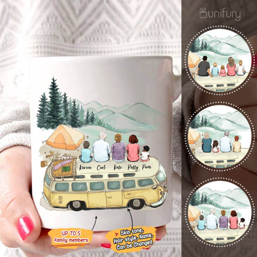 Personalized family members coffee mug gift for the whole family - Camping  - 2426