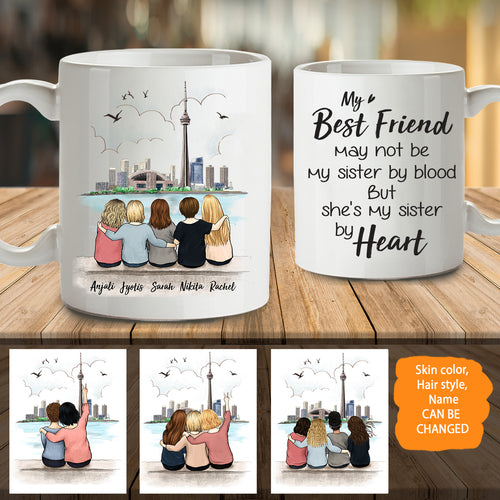 Personalized best friend birthday gifts Coffee Mug CN Tower - 2337