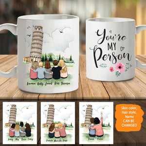 Personalized Mug - Best Friends (Up To 5 Persons) Pisa - 2330