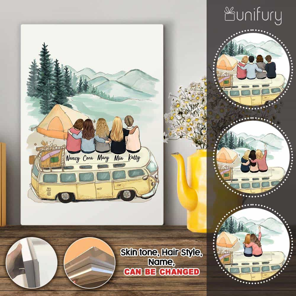 Personalized best friend birthday gifts Metal Print - Camping - 2272