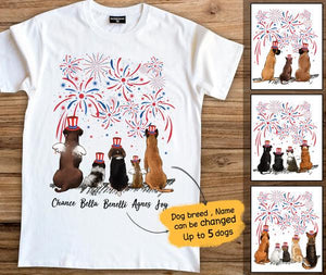 Personalized Dogs  Premium Tee For Holiday Party 4th Of July T-Shirt Gift Independence Day 2343