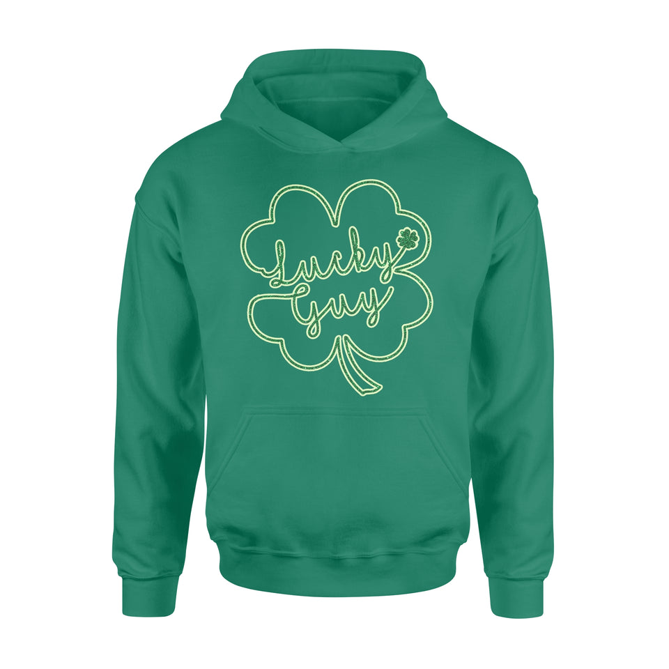 [MAN] Cute St Patrick's day hoodie ideas for men - Lucky Guy