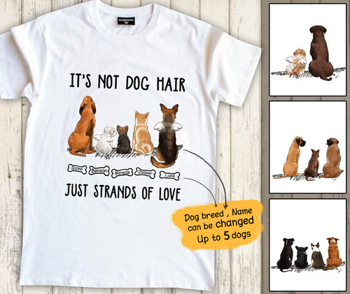 Personalized Dog Premium Tee - Just strands of love - Premium T-shirt - 2393