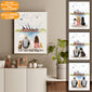 Personalized Dog Couple Canvas Print Opera - 2327