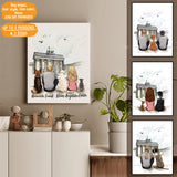 Personalized custom dog & couple canvas print canvas art gift for dog mom dad lover owner - Brandenburg Gate - 2339