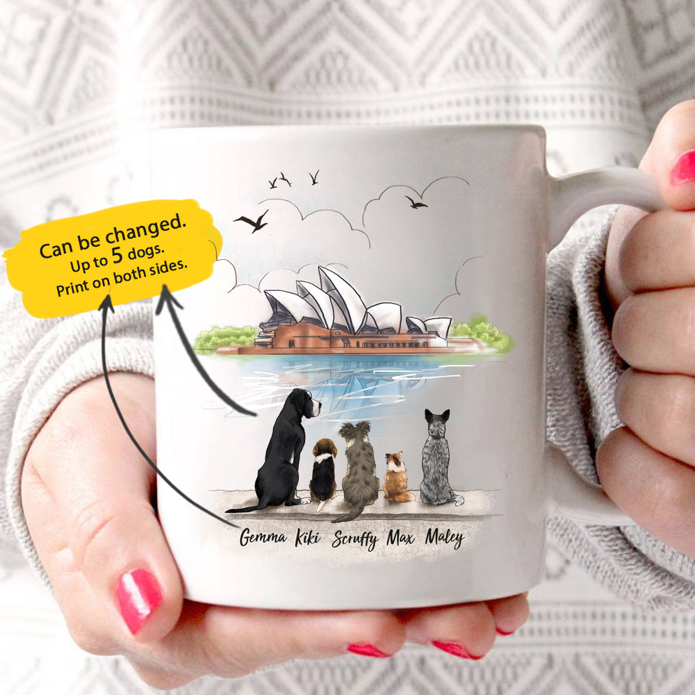 Personalized Dog Mug (Print On Both Sides) Opera Sydney - 2311