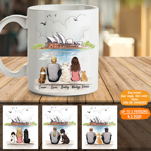 Personalized custom dog & couple coffee mug gift for dog mom dad lover owner Opera - 2327