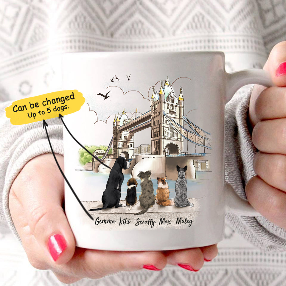 Personalized custom dog coffee mug gift for dog mom dad lover owner - London - 2357