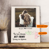Personalized best friend birthday gifts Canvas Print Long Distance Relationship - Wooden Dock - 2352