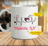 Personalized Mug - Nurse Heartbeat (Twin Sides) - 2293
