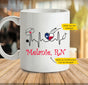 Personalized custom state nurse heartbeat mug (Twin Sides) gift for nurse - 2293