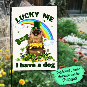 Personalized custom dog garden flag St. Patrick's Day 2021