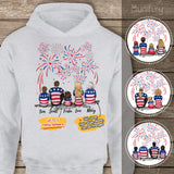 Personalized family members Hoodie 4th Of July gift for the whole family - UP TO 5 PEOPLE - 2426