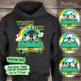 [FRONT SIDE] Personalized hoodie gifts for dog lovers - St. Patrick's day - Truck full of luck