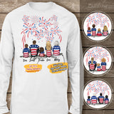 Personalized family members Long Sleeve 4th Of July gift for the whole family - UP TO 5 PEOPLE - 2426