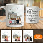 Personalized custom female best friend bestie sister birthday gift ideas coffee mug - Brandenburg Gate - 2336
