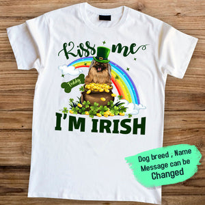 Personalized T-shirt gifts for dog lovers- Saint Patrick's Day