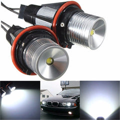Een paar Angel Eye LED Halo Light White voor BMW DC8-30V 12W 6000K