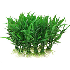 10 stks Aquarium kunstplanten Aquarium Aquatic decoratie Thuis ornament plastic groene gras aquarium supplykoop