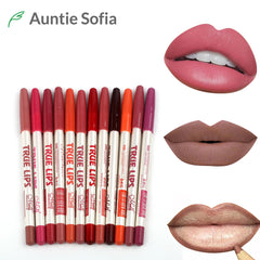 12 Kleuren Lip Potlood Set Matte Krijt Levre Lip liner Pigment Rode Waterdichte Lip Contour Kit Naakt Lip Stick Makup cosmetica   Faylisvow