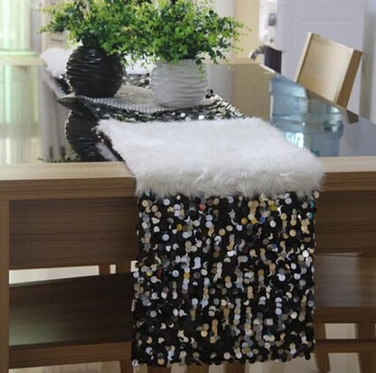 #121 32*200 cm luxe mode sequin & veer patchwork Runner runner tafel mat Mat tafel diner bed december