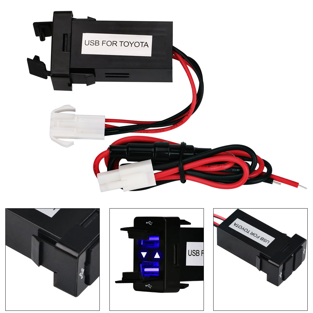 Fantastic 12 V 24 V Dual Usb Car Charger Voor Toyota Nausb 2 1A 2 Port Auto Wiring Cloud Cosmuggs Outletorg