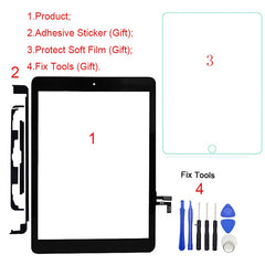 1 Pcs Voor ipad Air ipad A1474 A1475 A1476 Touch Screen Digitizer Voor Glas Panel Reparatie Vervanging Deel