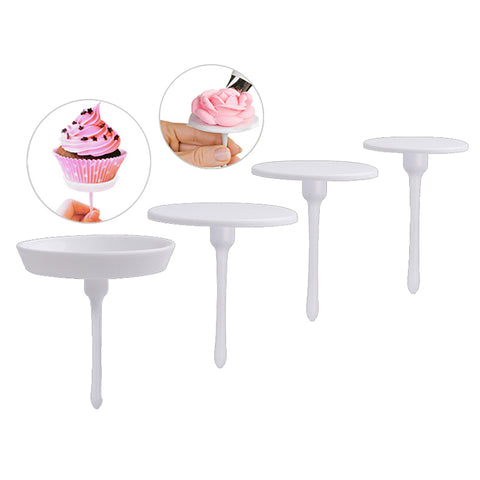 1 set/4 stks cake decorating gereedschap sugarcraft cupcake cake stand icing cream flower decorating nail set tool   houseeker