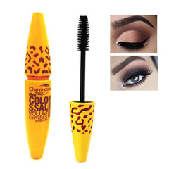 1 stksGeel Leopard Colossal Mascara Volume Express Make Curling Waterdicht Wimpers Drop Verzending Groothandel   Yang yutong magical color