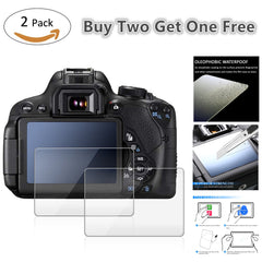 2 pak 9 H Gehard Glas LCD Screen Protector voor Canon EOS M50/Sony Alpha A7 III A7M3/ fujifilm GFX 50 s X-H1 Camera