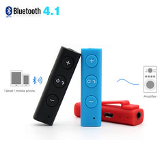 Handfree Auto Bluetooth Muziek Ontvanger Universele 3.5mm Streaming A2DP Wireless Auto AUX Audio Adapter Met Microfoon Voor Telefoon MP3