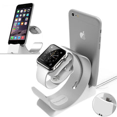 Archee 2 in 1 aluminium oplaadhouder voor Apple iWatch iPhone