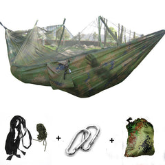 260*130 cm Hangmat Klamboe Draagbare Outdoor Tuin Travel Camping Swing Canvas Streep Hangen Bed Hangmat Army Green