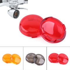 2 stks Motorcycle Bike Richtingaanwijzer Indicator Lens Cover Moto Voor Harley Dyna 883 Softail Sportster 1986-2015Yellow/Rook/rood