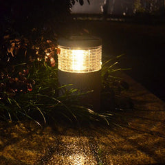 Tuin Solar Stone Post Wit Warm Wit LED Light Outdoor Waterdichte Decoratie Lamp
