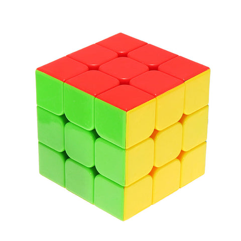 Classic Magic Cube Toys 3x3x3 PVC Sticker Blokpuzzel Speed Cube Suikerkleur